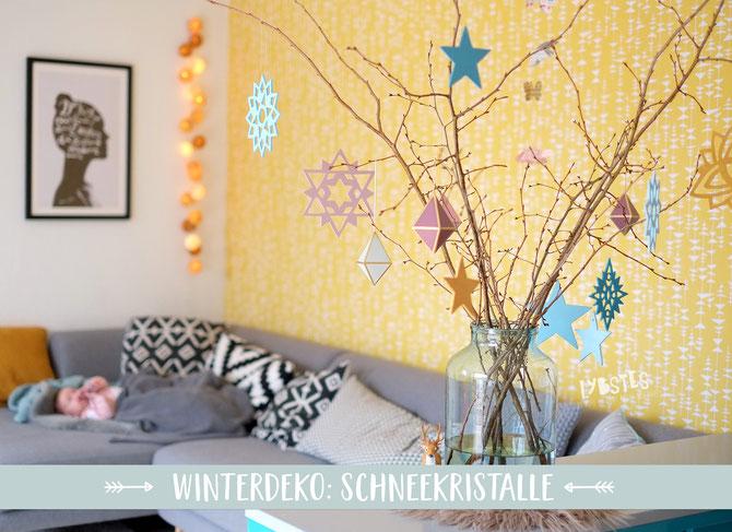 Lybstes DIY: Eiskristalle aus Sperrholz sägen mit der Laubsäge, Lybste Weihnachtsdeko Sachen selbermachen