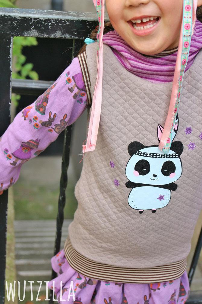 Lybstes Herbst-Set: Hoodie und Shirt für das perfekte Herbstoutfit für Kinder, Panda von PAul & Clara