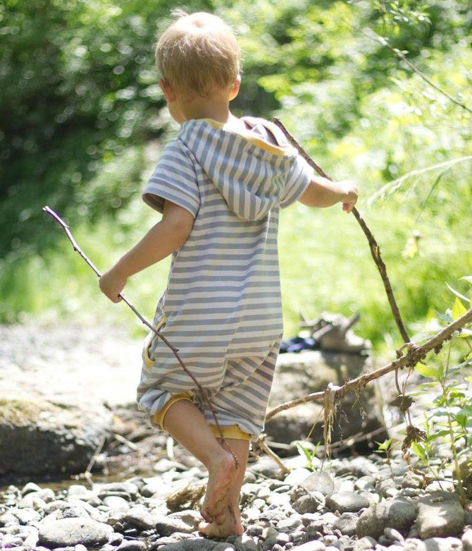 Lybstes Designnähen: Jumpsuit/Spieler/Jumper als Sommerversion selber nähen für Kinder