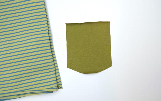 """Lybstes """"Pimp my Basicshirt"""": Brusttasche nähen, Nähanleitung für Anfänger"""