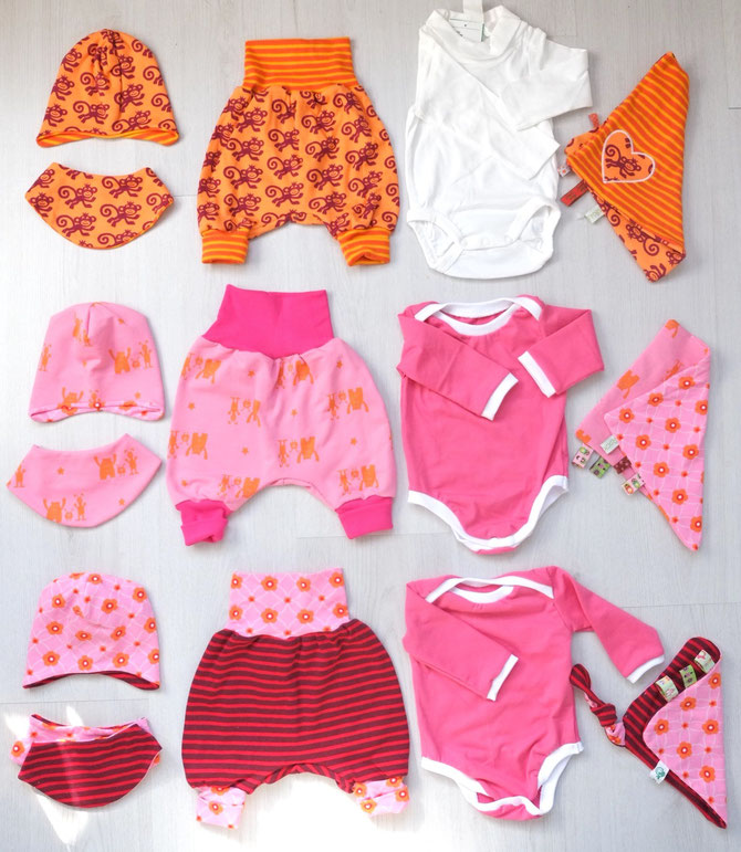Lybstes. Willkommenset-Aktion für Flüchtlingsbabys, selbst genähtes Newborn-Set, inkl. Freebooks