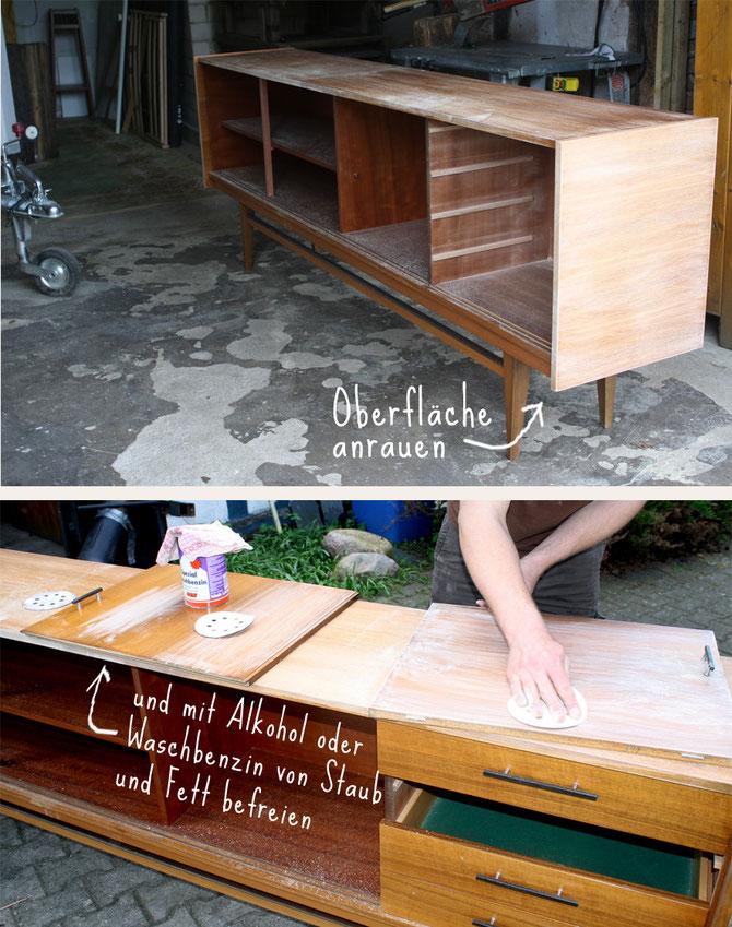 Lybstes. Sideboard lackieren