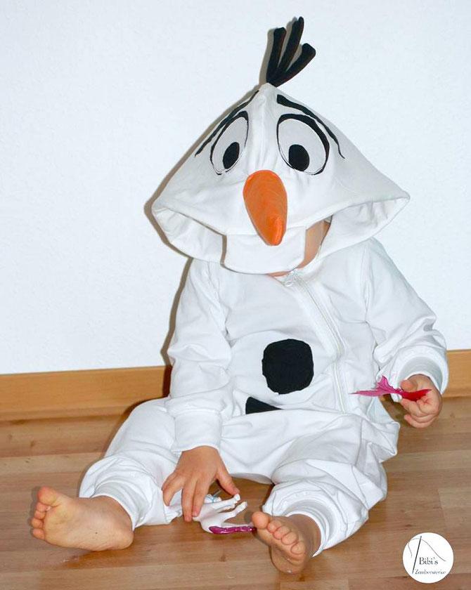 Lybstes. Kostüm, Faschingskostüm selber nähen für Kinder, Schneemann-Kostüm