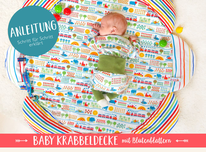 Lybstes Nähanleitung: eine Baby-Krabbeldecke selber nähen, Schnittmuster, Tutorial
