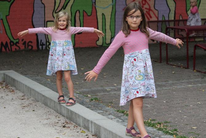 Lybstes Basickleid Juna: Schnittmuster und Anleitung jetzt neu! Ein tolles Herbstkleid selber nähen!