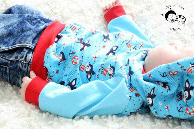 Baby-Kapuzenpullover selber nähen! \
