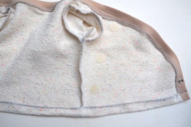 Lybstes Nähanleitung: Baby Wickeljacke selber nähen, Schnittmuster erstellen