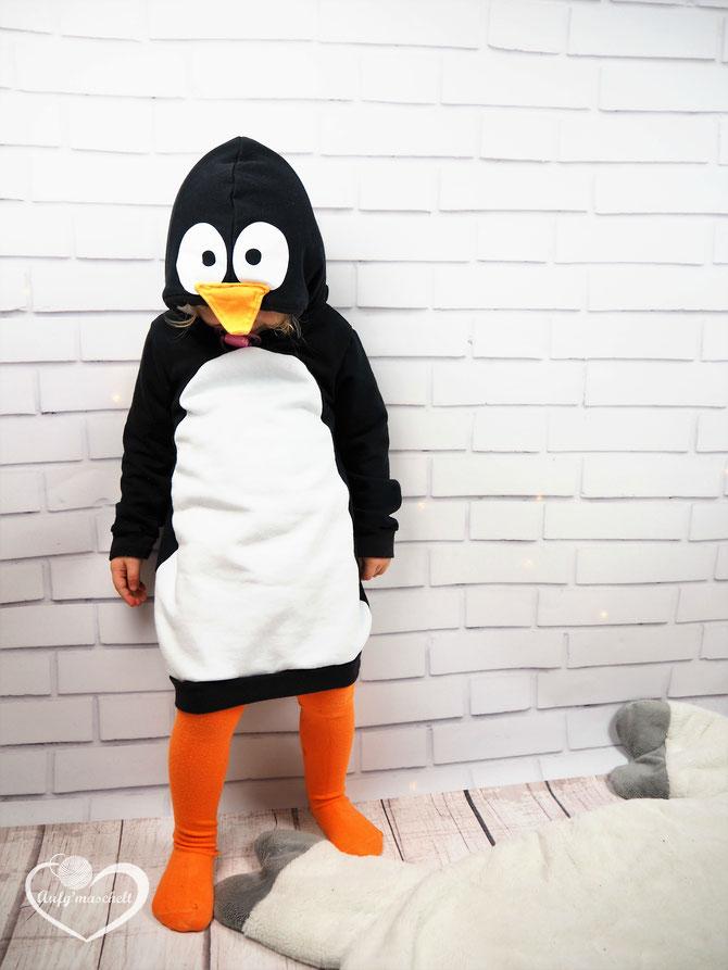 Lybstes. Kostum, Faschingskostüm selber nähen für Kinder, Pinguin-Kostüm