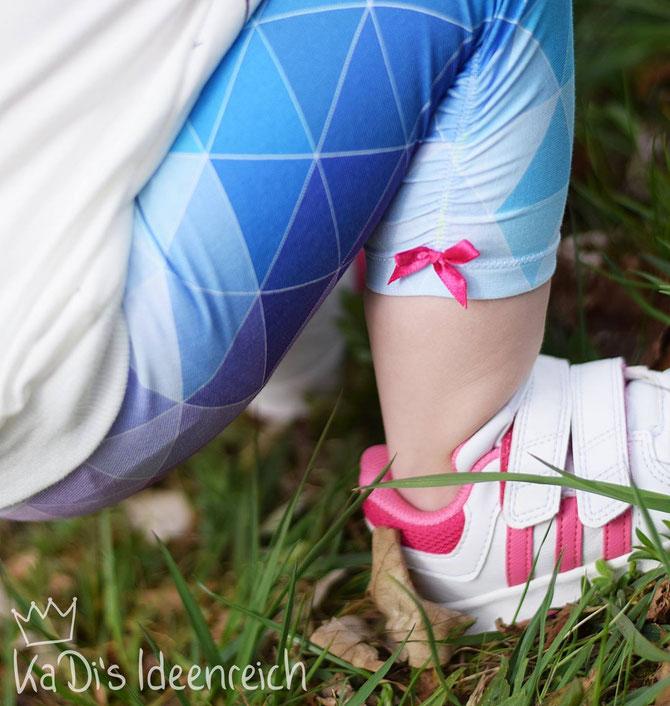Lybstes Leggings Nähtutorial: gerafft mit Framilon, 3/4-Leggings, Dreiviertel-Leggins mit Raffung