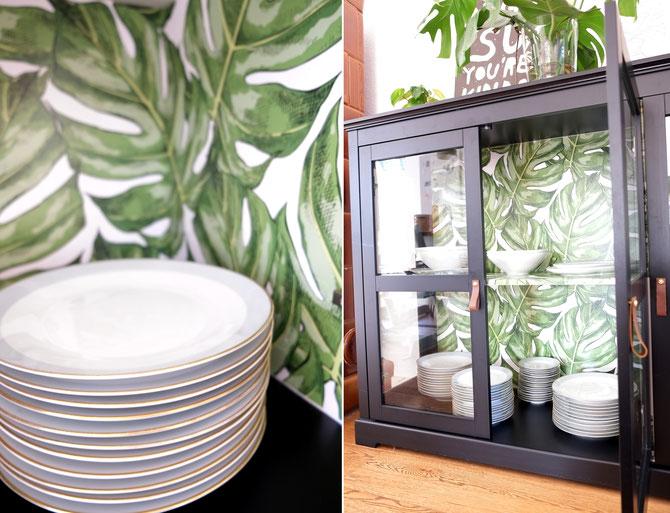 Lybstes Haus-DIY & Interiordesign: Schrank mit Möbelsticker bekleben, Sticker ans Sideboard