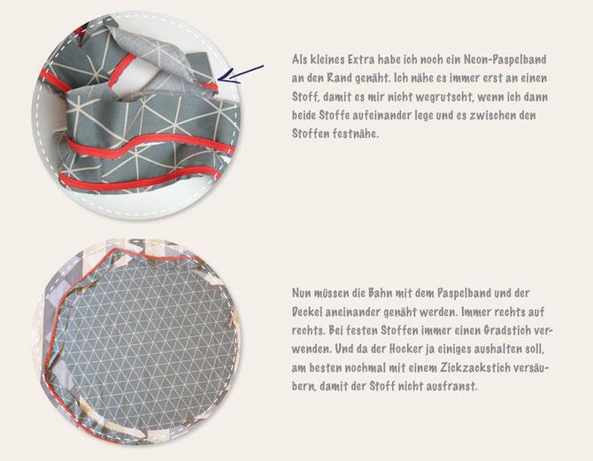 schnittmuster abnehmen und hocker neu beziehen lybstes. Black Bedroom Furniture Sets. Home Design Ideas