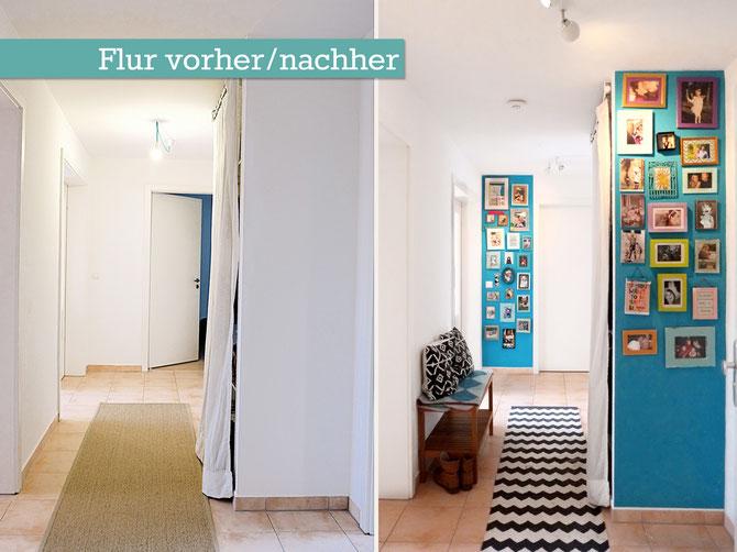 den flur gestalten her mit den vielen fotos und ab auf die fotowand lybstes. Black Bedroom Furniture Sets. Home Design Ideas