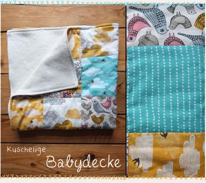 kuschelige patchwork babydecke lybstes. Black Bedroom Furniture Sets. Home Design Ideas