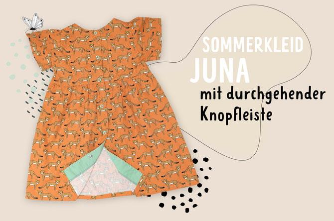 Lybstes Sommerkleid Juna: Anleitung Knopfleiste nähen