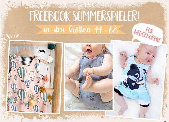Lybstes Freebook Jolly Romper: ein Sommer-Spieler für Babys und Newborns - gratis Schnittmuster in den Gr. 44, 50, 56, 62 und 68