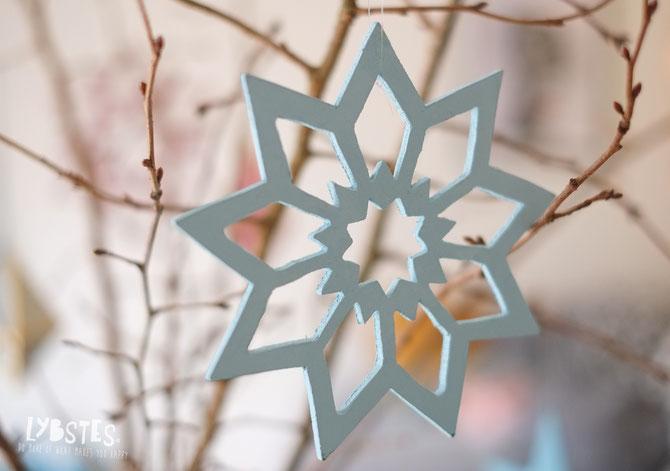 Lybstes. Bastelanleitung: Schneeflocken sägen, DIY, Weihnachtsdeko, XMAS snow