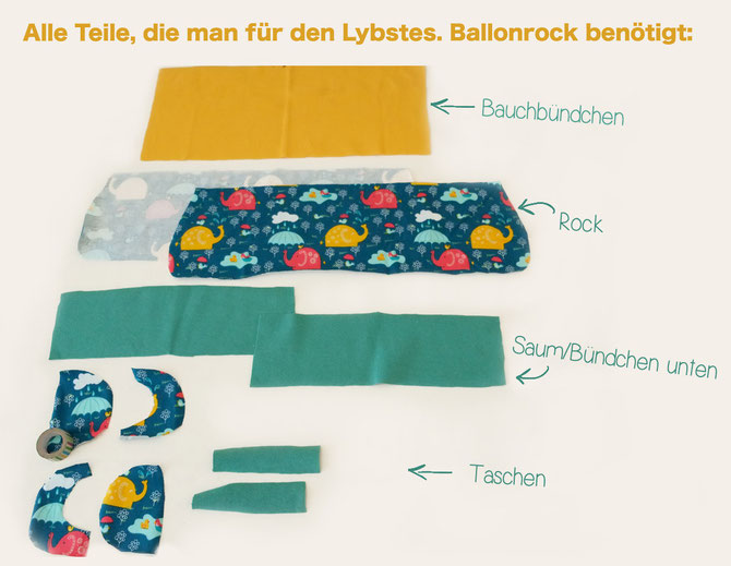 Lybstes. Ballonrock Freebook, Kinderrock nähen, DIY E-Book gratis