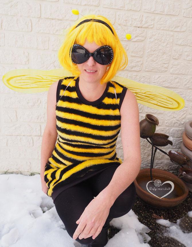 Lybstes. Kostum, Faschingskostüm selber nähen für Kinder, Bienen-Kostüm