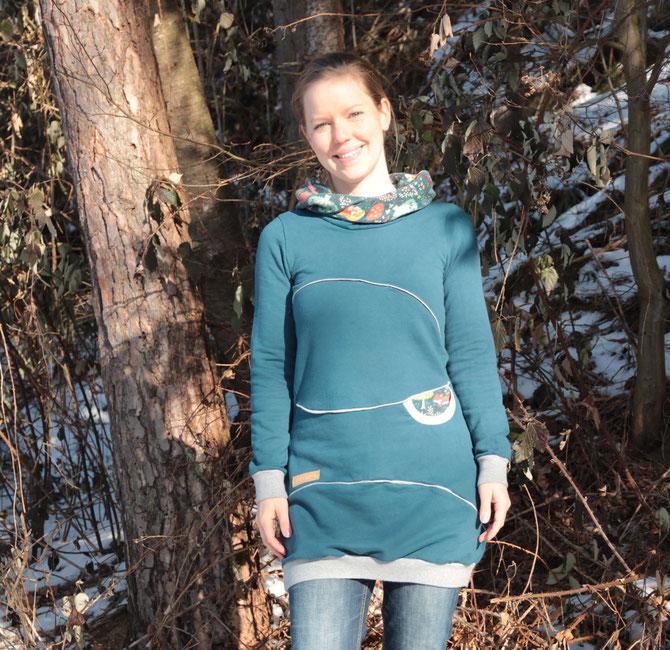 Lybstes Stillkleidung: Kleid zum Stillen selber nähen, Freebook, Anleitung zum Ballonkleid Milla