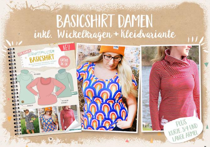 Lybstes Basicshirt für Damen, Basickleid für Frauen nähen, #nähenfürmich #nähenfüranfänger