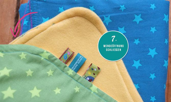 Lybstes: Babydecken in Regenbogenfarben, Babydecke mit Fleece und Sternen TUTORIAL
