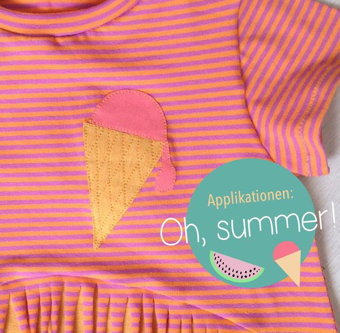 Lybstes. Freebie: Oh summer! Eisapplikation und Melonen-Applikation für's Shirt oder Kleid
