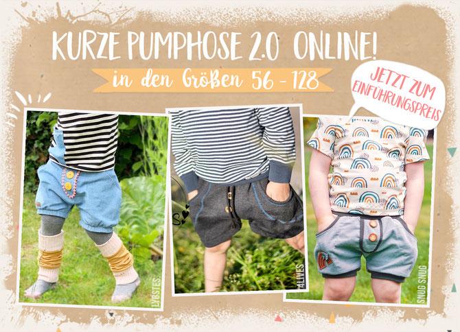 "Lybstes ""kurze Pumphose 2.0"" nähen: Pumphose für Babys und Toddler, kurze Sommerhose"