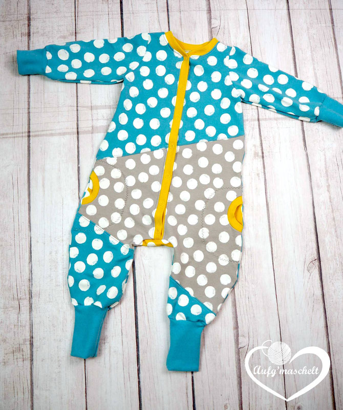 "Jolly Jumper Strampler und Jumpsuit, Lybstes Freebook, Tutorial ""faule Knopfleiste"""