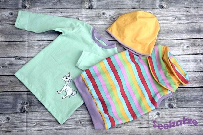 Lybstes Herbst-Set: Hoodie und Shirt für das perfekte Herbstoutfit für Kinder, mit Einhorn