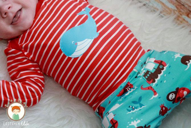 Lybstes Babybody nähen, Schnittmuster und Nähanleitung für einen Body, tolles Geburtsgeschenk