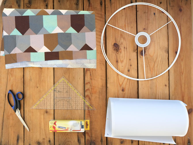 lampenschirm mit stoff bekleben lybstes. Black Bedroom Furniture Sets. Home Design Ideas