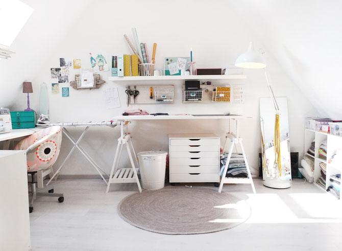 Nähzimmer Einrichten lybstes nähzimmer und workspace auf dem spitzboden lybstes