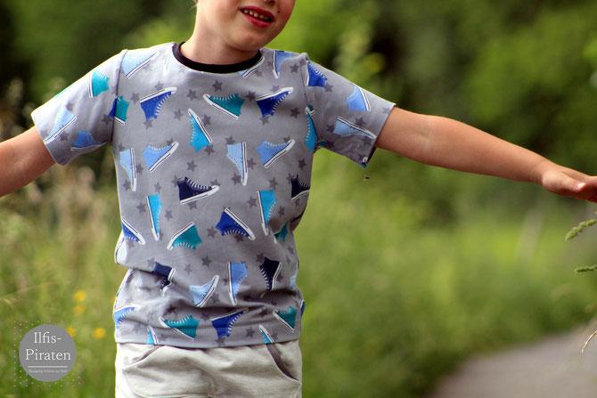 Lybstes Basicshirt Schnittmuster für Kids, Mädchen und Jungs, Gr. 122-164, Sommershirt nähen, Longsleeve