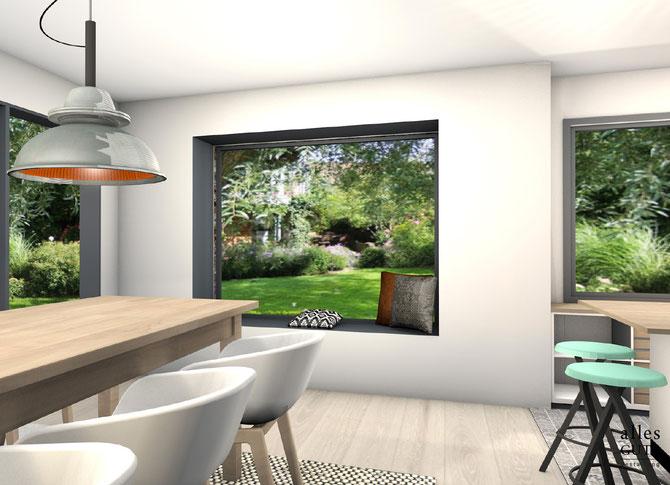 Bild: Alles Gute Gestaltung - Sabrina Jakumeit, Lybstes Altbausanierung: unsere Sitzfensterbank