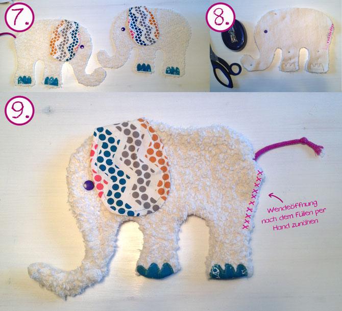 Elefant nähen für Baby