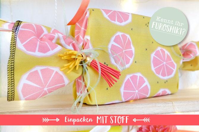 Lybstes Geburtstag - Einpacken mit Stoff - Furoshiki
