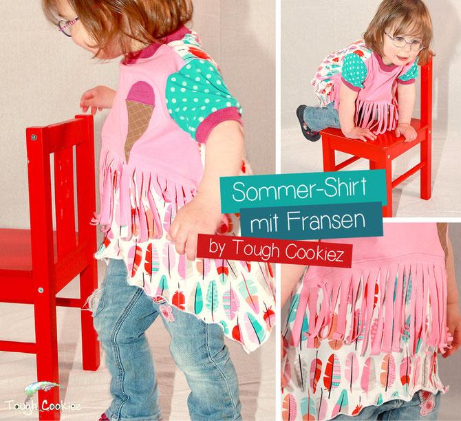 Ballonkleid Sommer-Milla by Lybstes. Schnittmuster mit Fransen und als Shirt erhältlich!