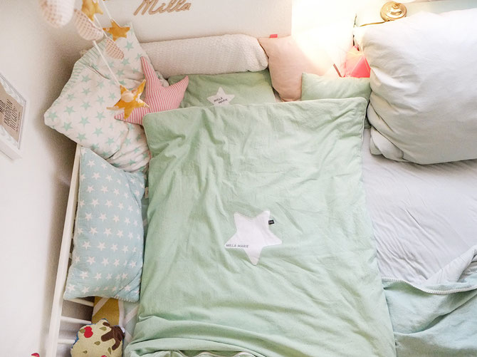 Kinderbettbezug selber nähen! eine kuscheldecke für die kleine