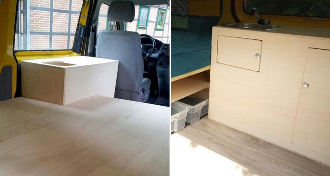 unser bus bekommt eine mobile minik che busausbau t5 teil 2 lybstes. Black Bedroom Furniture Sets. Home Design Ideas