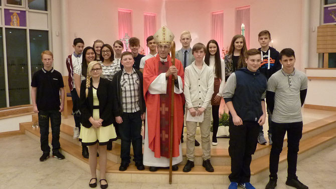 November 2015 Confirmation Group with Bishop Brian Noble