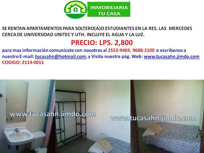 Venta y renta de casas apartamentos y terrenos en honduras for Apartamentos en sevilla baratos alquiler