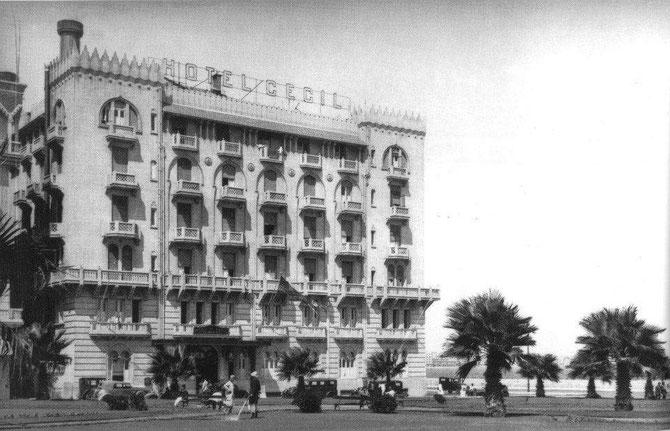 "HOTEL CECIL où LAWRENCE DURRELL SITUA "" LE QUATUOR D'ALEXANDRIE ""."