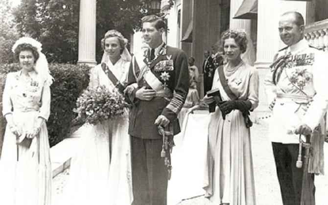PALAIS ROYAL D'ATHENES. 10 JUIN 1948. MARIAGE DU ROI MICHEL 1er DE ROUMANIE ( 25 0ct. 1921 à Sinaïa) et DE LA PRINCESSE ANNE DE BOURBON PARME (18 Sept.1923 à Paris)