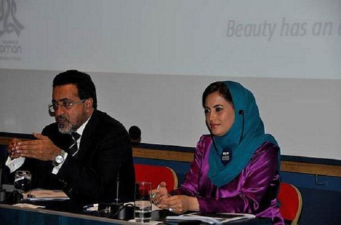 Son Excellence Ahmed Nasser AL MAHRIZI, Ministre du Tourisme et Sa Secrétaire d'Etat, Son Excellence Madame Mairtha AL MAHROUQUI.