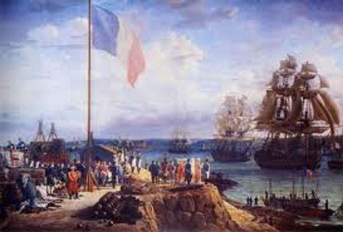 1811. Napoléon et Marie-Louise assistent au défilé de l'escadre de Cherbourg.
