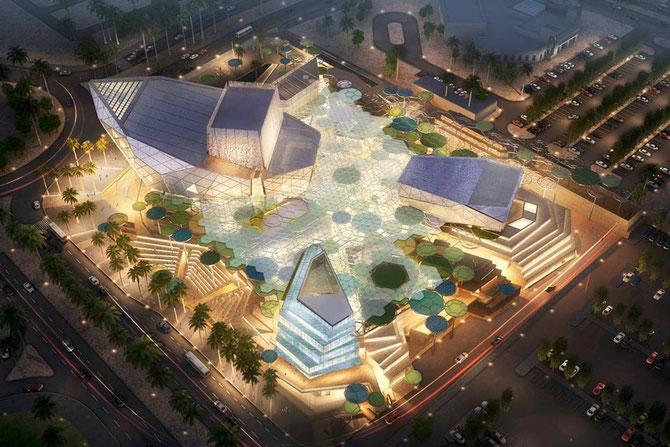 SABAH AL HAMAD CITY. CENTRE CULTUREL. 55.000m2. COÛT : US$ 87,5 millions