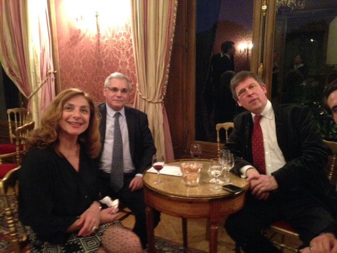 g. à dte. Mme. Valérie GAZALE, PROFESSEUR Gérard TEBOUL, PROFESSEUR Olivier TOURNAFOND.