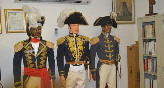 PARC DE LA CANNE à SUCRE, SALLE TANCREDE AUGUSTE : JEAN-JACQUES DESSALINES 1758-assassiné 1806, 1er Empereur d'HAÏTI (JACQUES Ier), ALEXANDRE SABES dit PETION 1770-1818, Pt. DE LA REPUBLIQUE, HENRI CHRISTOPHE 1767-1820 (Roi CHRISTOPHE)