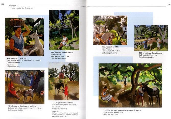 2 PAGES ILLUSTREES DU SUPERBE CATALOGUE DE GIULIA PENTCHEFF avec la BIOGRAPHIE DE Joseph INGUIMBERTY