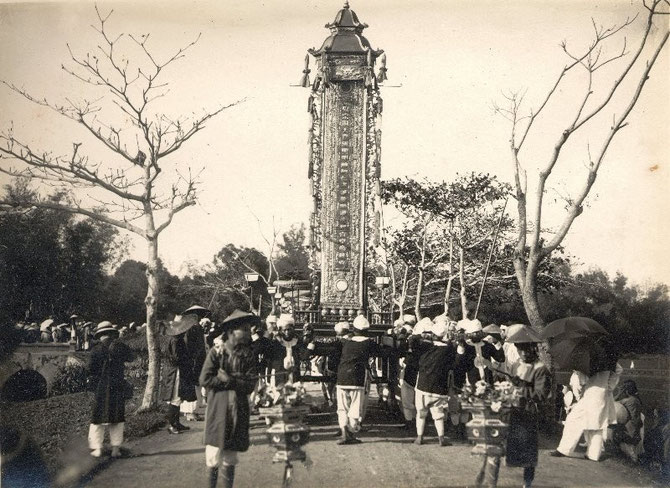 FUNERAILLES DE L'EMPEREUR KHAI DINH.